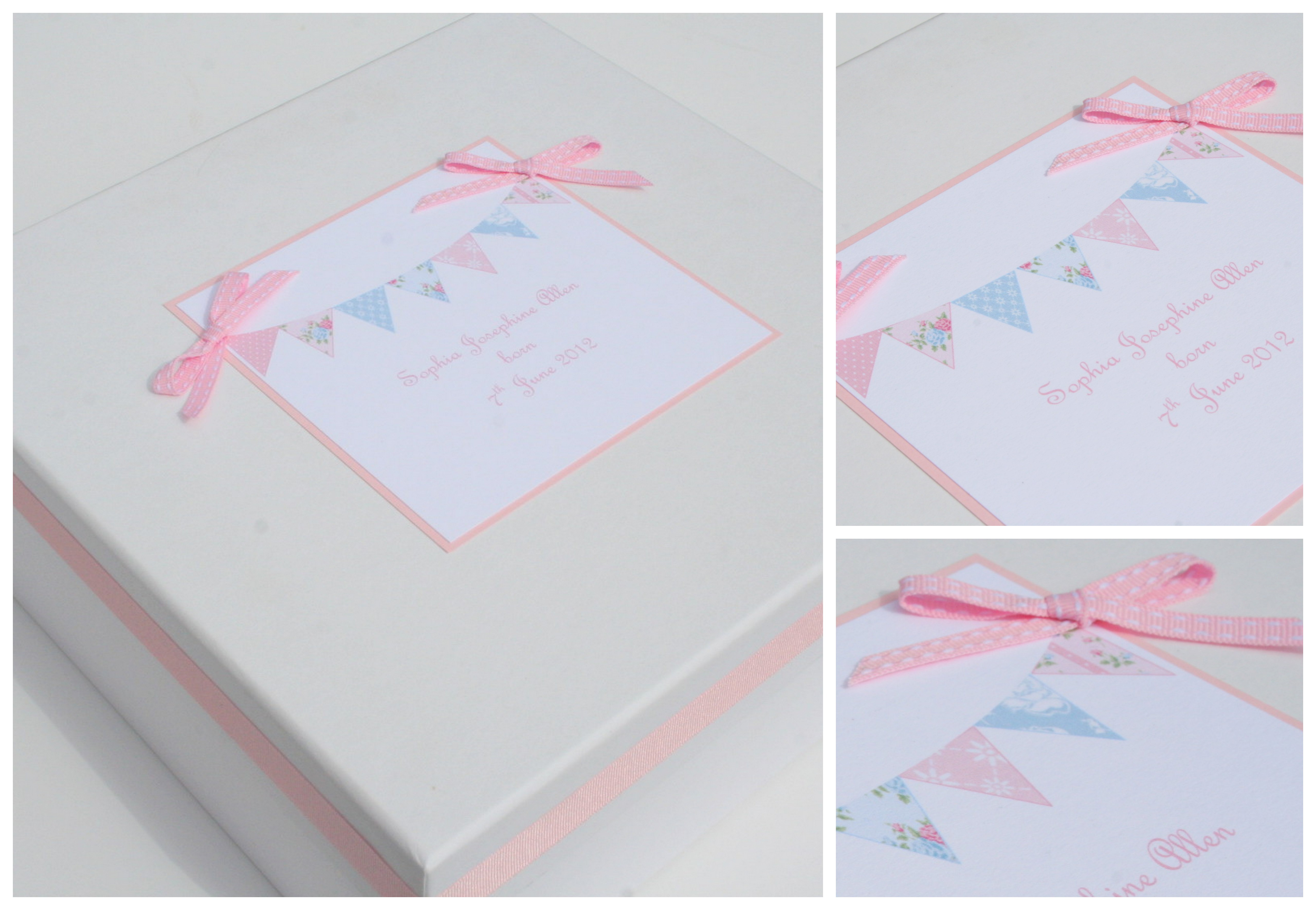 Baby 'bunting' keepsake box - NEW!