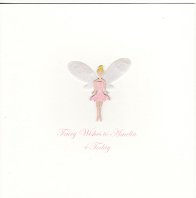 Personalised childrens birthday cards birthday card fairy bookmarktalkfo Image collections