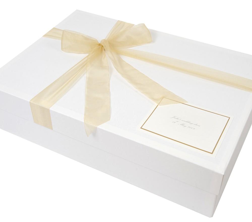 Luxury Wedding Dress Box - \'Ribbon Tied\' Design